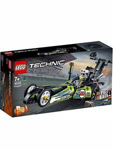 LEGO 42103 Technic Dragster auto da corsa giocattolo per Hot Rod 2in1 Set con pull-BAC NUOVO