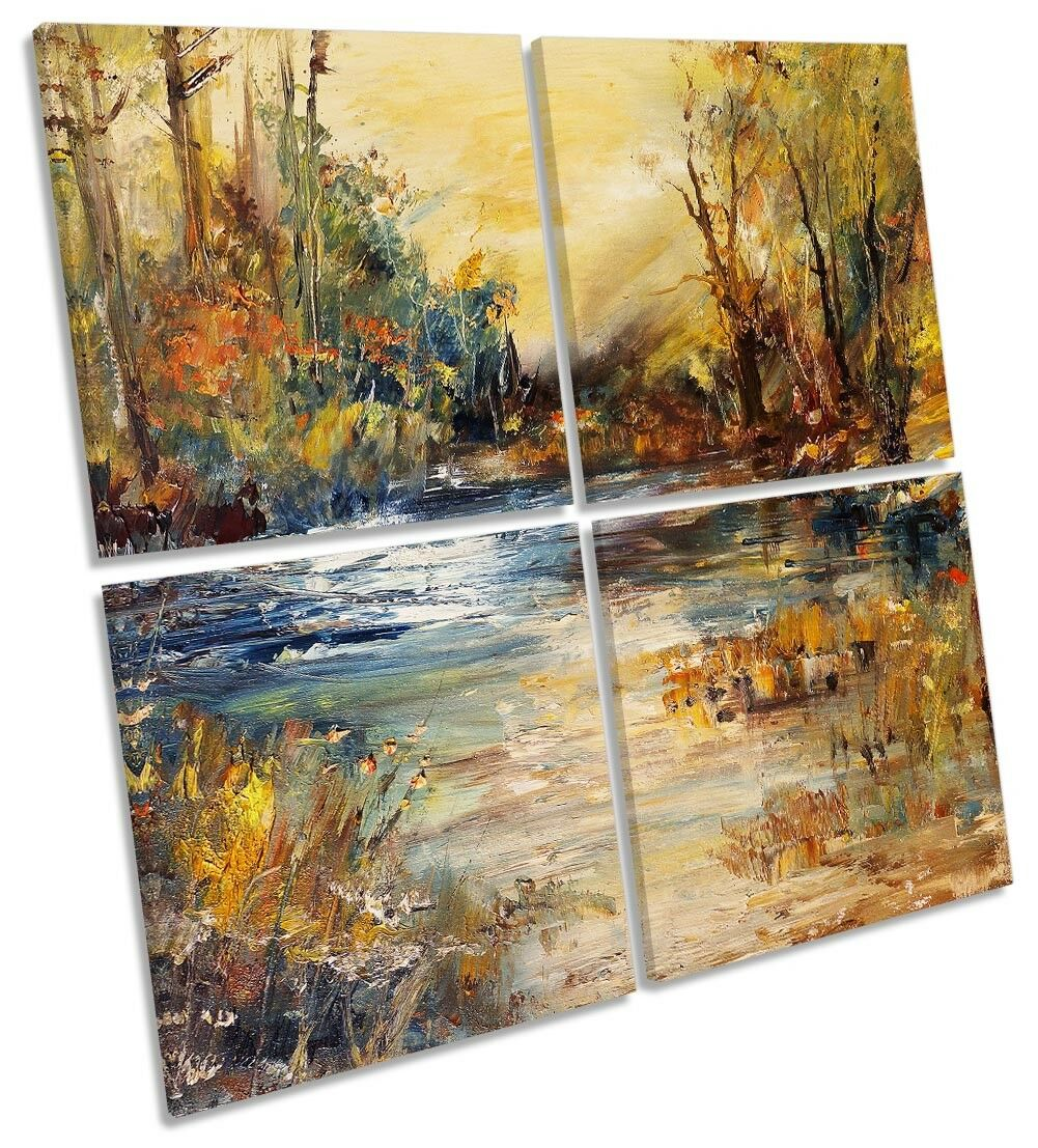 braun Autumn Forest Repro MULTI CANVAS WALL ARTWORK ARTWORK ARTWORK Square Art 9b79a8