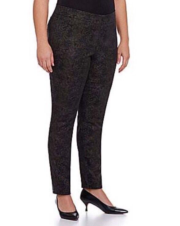 22W NYDJ Not Your Daughter's Jeans EVIE Metallic Snake Skin Print Leggings  140