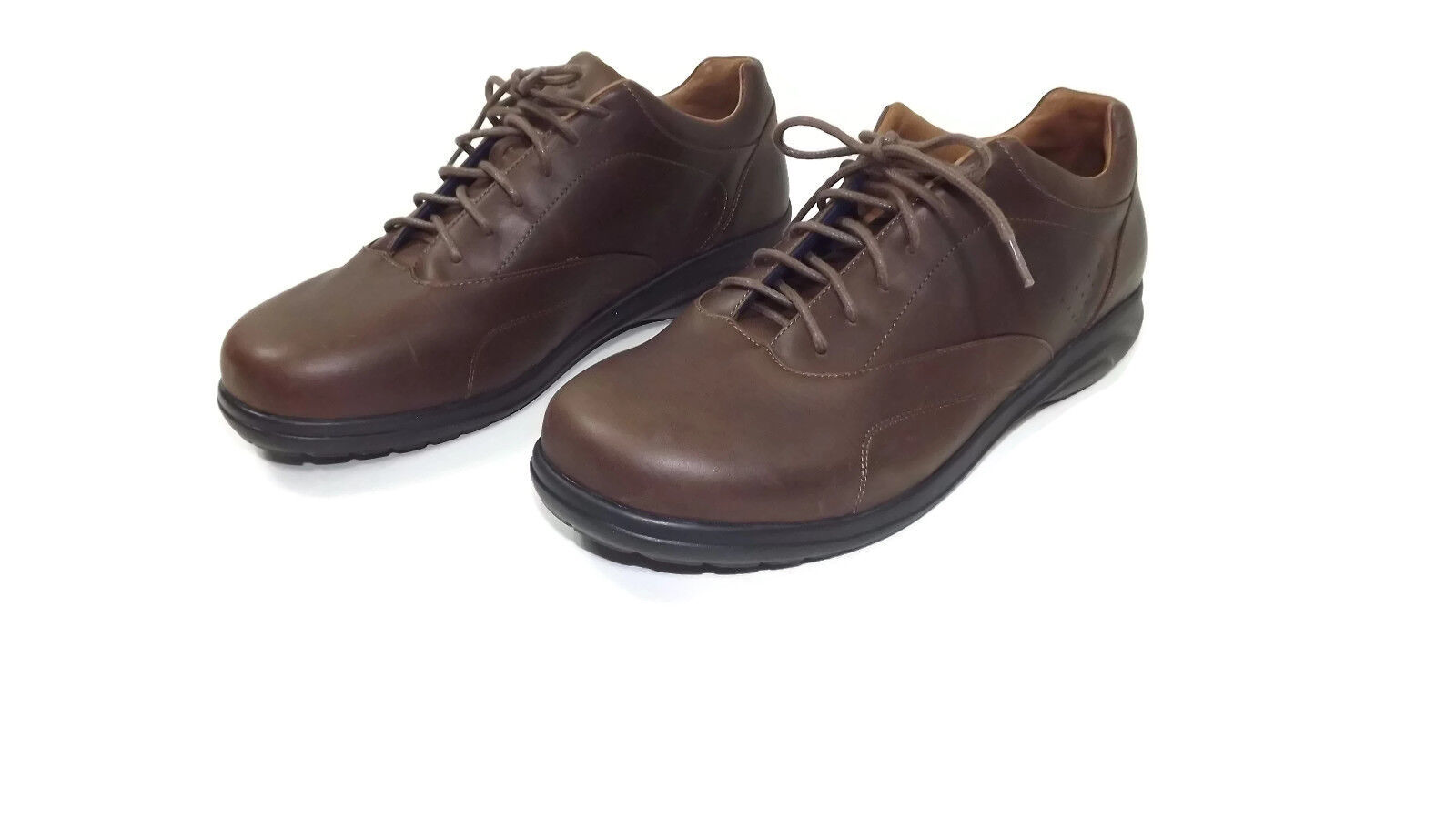 Oasis Uomo Brown Oxfords Quality Soft Full Grain Pelle Size 11 W Wide