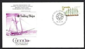 Canada-746-Fleetwood-Five-Masted-Schooner-Cover-New-1977-Unaddressed