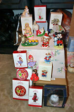 HALLMARK ORNAMENT BIG LOT OF ORNAMENTS BABY KIDS GIFTS & MORE