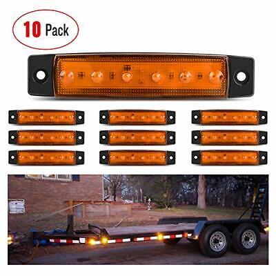 Truck cab marker lights 5 + 5 Led marker lights for trucks Trailer marker lights 10 pcs TMH 3.8 6 LED Red /& Amber Side Led Marker Marker light amber RV marker light Rear side marker light
