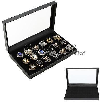 36 Slots Velvet Jewellery Earrings Rings Showcase Display Box Storage Organiser