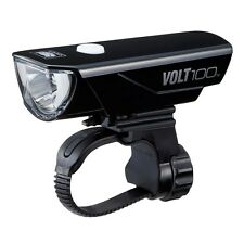 CATEYE VOLT 100 HL-EL150RC CHROME BLACK FRONT BICYCLE HEAD LIGHT