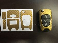 Carbon Gold Folie Schlüssel Hyundai z.B.: i10 i20 i30 ix35 ix20 Elantra