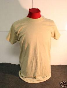 US MILITARY Moisture Wicking Desert Sand T-Shirt S VG