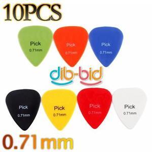 10Pcs-Smooth-Nylon-0-71mm-Guitar-Picks-Plectrums-Radom-Color-3