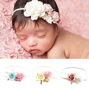 BL-JT-Newborn-Baby-Girl-039-s-Flower-Headband-Photography-Prop-Beach-Holiday-Hair
