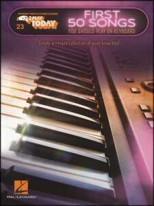 50 Premières Chansons Vous Devriez Jouer Sur Clavier Partitions Livre Billie Jean Rêveur-afficher Le Titre D'origine