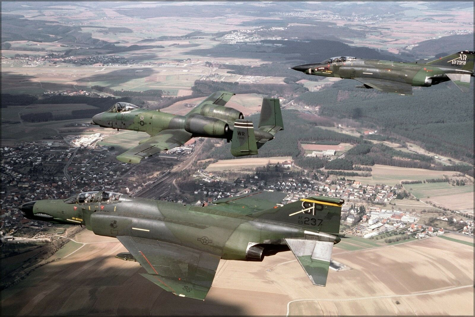 Poster, Molte Misure; F-4g Phantom II F-4, A-10a Thunderbolt A-10 A-10 A-10 Warthog 1987 667cb3