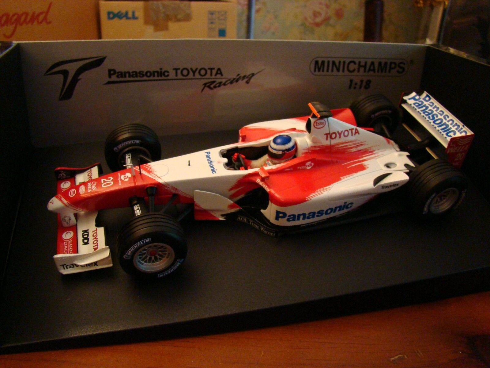 1 18 Toyota F1 Formula One Panasonic Racing O Panis 2003 Michelin Minichamps