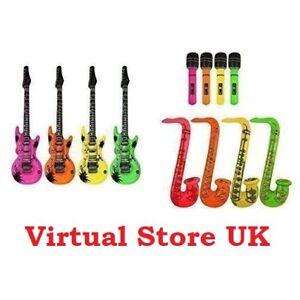 Inflatable-Guitar-Saxophone-Microphone-Blow-Up-Fancy-Dress-Party-Bag-Prop-lot