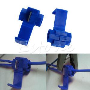 10x Blue Electrical Cable Connectors Fast Quick Splice Lock Wire Terminals Crimp