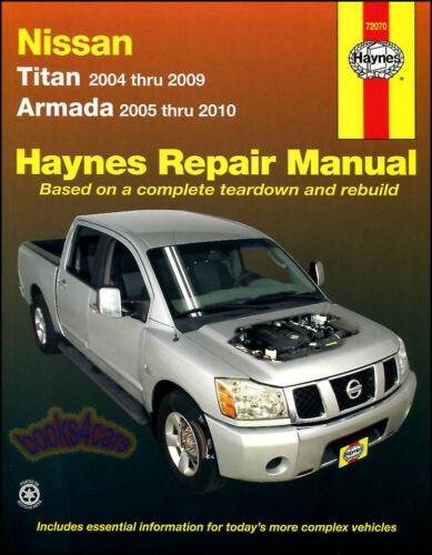 SHOP MANUAL NISSAN TITAN ARMADA HAYNES SERVICE REPAIR BOOK CHILTON