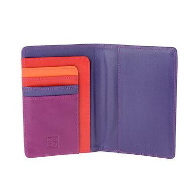 Brieftasche in Leder Kreditkartenetui DuDu Rot Multicolor Kuvert