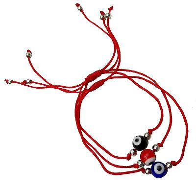 Raccolta 1 grande KHAMSA contro il MALOCCHIO Bracciali di corda NERO cabala