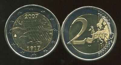1989-2009 20th BI-METAL COIN UNC SLOVAKIA 2 EUROS FREEDOM COMM