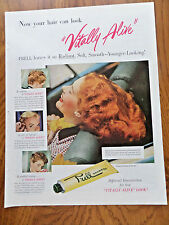 1950 Prell Shampoo Ad  Vitally Alive