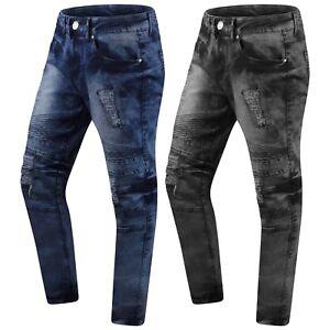 Caricamento dell immagine in corso Nuove-da-Uomo -Denim-Jeans-Slim-Biker-Strappato- 3f4568344839