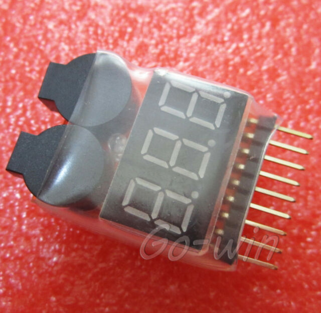 1pcs 1S-8S Battery Low Voltage Tester Alarm Buzzer Battery Voltage 2IN1 Tester