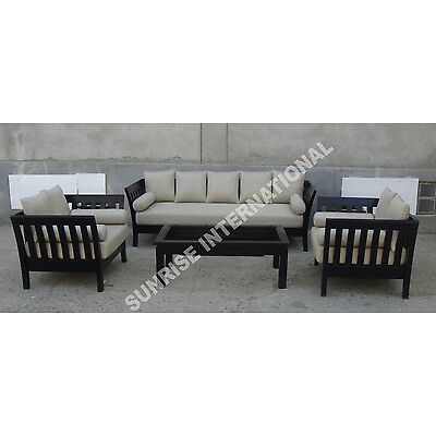 Contemporary Wooden Sofa set with 1 Center Table (SUN-WSS126/158)