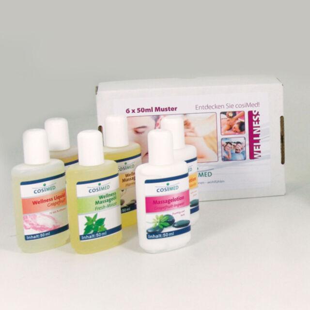 cosiMed Probierset Wellness & Massage | Massageöl Lotion Creme Sauna Neu+OVP