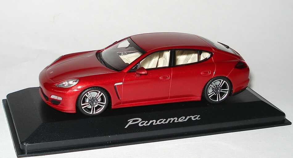 PORSCHE PANAMERA 2010 rouge RUBIS METAL MINICHAMPS WAP02000119 1 43 ROUGE rouge