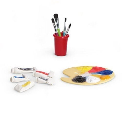 American Girl Saige/'s PAINTING SET easle paint brushes art for SAIGE DOLL sage