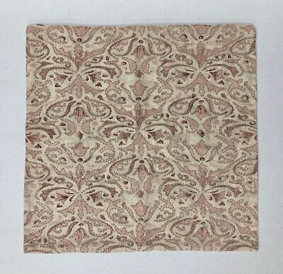 Pottery Barn Reilly Pillow Cover Mauve 22 sq Embroidered Damask Reilley New