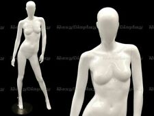 Female Fiberglass Glossy White Mannequin Egg Head Roxy Display Mz Oziw3