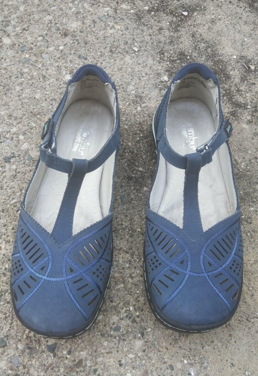NEW JBU By Jambu Wildflower Women's Sandal With Memory Foam bluee 7M