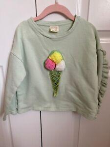 Zara Girls Toddler Baby Sweatshirt Sweater Terry Cotton ...