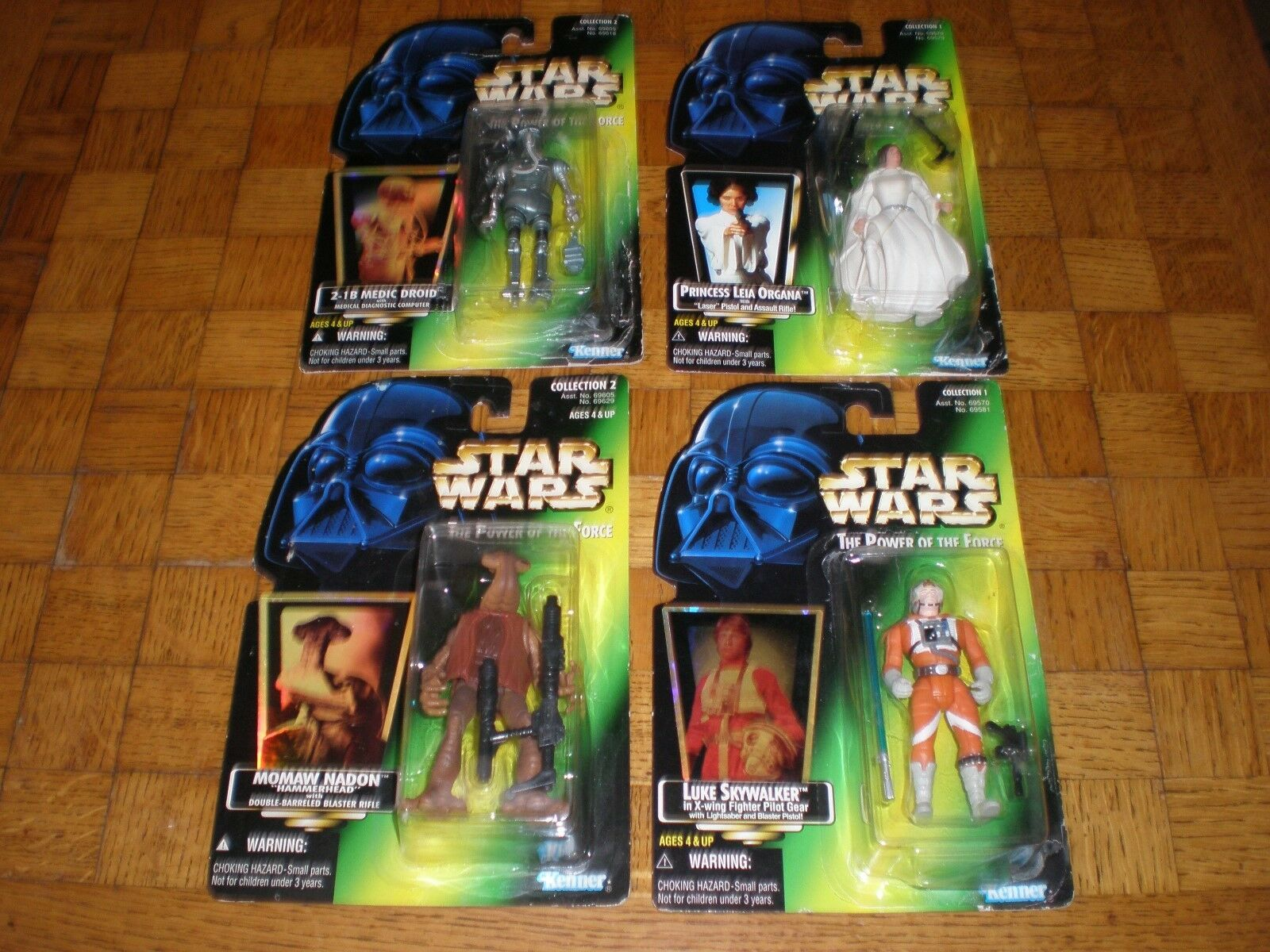 Star Wars The Power Of Force Lot (4 figurines) Hasbro   Kenner 96   97 (neuf)