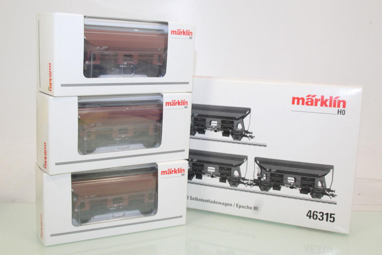 Märklin H0 46315 Selbstentladewagen-Set 3tlg. der DB neuwertig in OVP (SL6650)