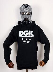 Dgk Skateboards Hooded Sweatshirt Fleece Sweater All Star Black in M Dirty Ghett