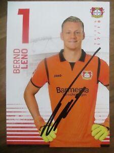 Handsignierte-Autogrammkarte-JBERND-LENO-Bayer-04-Leverkusen-17-18-2017-2018