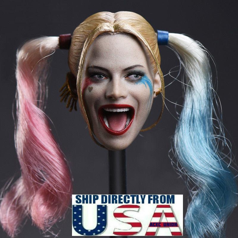 1 6 Harley Quinn Head Sculpt Suicide Squad For 12  TBLeague PHICEN Figure U.S.A.