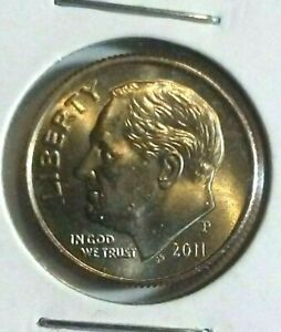 2011 P 10c Roosevelt Dime US Coin BU Uncirculated Mint State