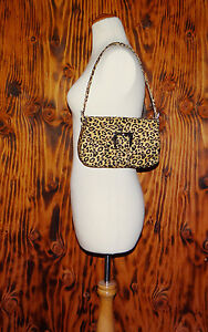 90s-Leopard-Print-Purse-Baguette-Style-Shoulder-Bag-HDG-Heckathorn-Design-Group
