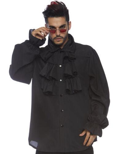 Black Ruffle Front Shirt