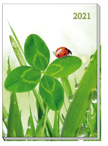 Kalender Taschenkalender Buchkalender Timer Planer 2021 A7 1W=2S Katzen Blumen