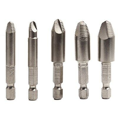 Screw Easy Speed Out Extractor Remover Hex shank&case Drill tool set 5pcs 1/4''