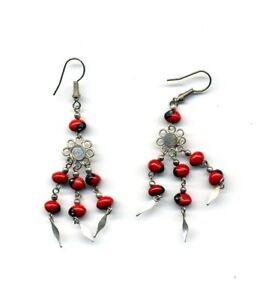 Peru-Andes-Earrings-featuring-small-native-wayruros-seeds-and-Pachacutic-symbol