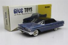 Blue GFCC TOYS  1:43 1959 Pontiac Bonneville- Convertible Alloy Sports car