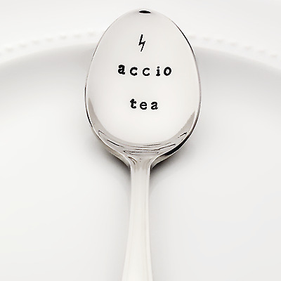 Accio Tea with Lightning Bolt | Harry Potter Stamped Spoon