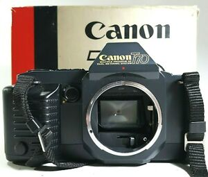 Canon-t70-35mm-SLR-Film-Camera-Body-boxed-Vintage-UK-Schnelle-Post