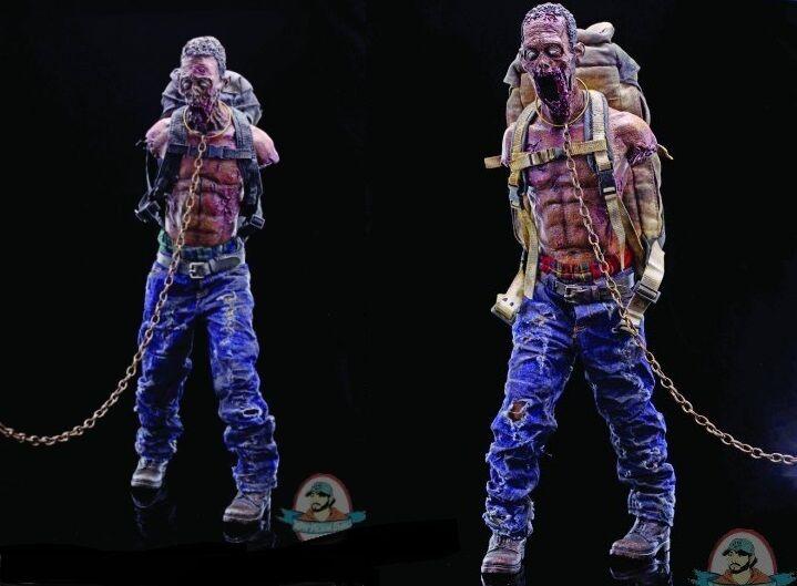 1 6 Walking Dead Michonnes Pet Zombie Walkers Figura Rojo & verde versión