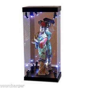 mb display box acrylic case led light house for chinese lady porcelain figurine ebay. Black Bedroom Furniture Sets. Home Design Ideas