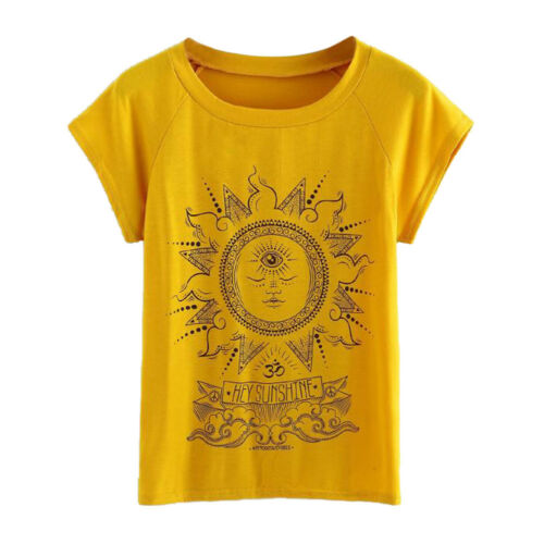 Fashion Women Summer Casual Short Sleeve Blouse Ladies Loose Shirt Top Plus Size